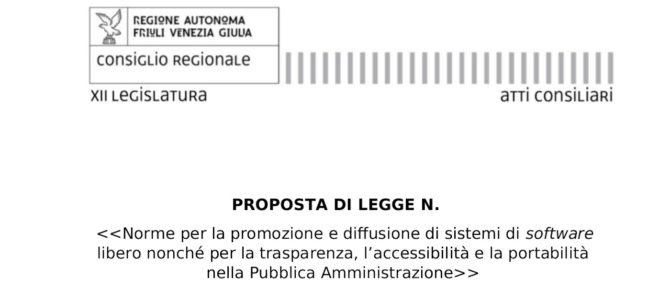 Proposta di Legge per la promozione del Software Libero in Friuli Venezia Giulia: Conferenza Stampa